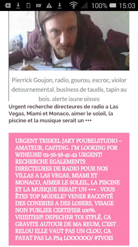 Encore MERCI Triskel Jacky